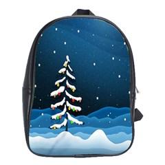 Christmas Xmas Fall Tree School Bags (XL)