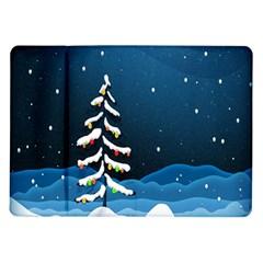 Christmas Xmas Fall Tree Samsung Galaxy Tab 10 1  P7500 Flip Case