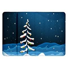 Christmas Xmas Fall Tree Samsung Galaxy Tab 8 9  P7300 Flip Case