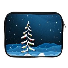 Christmas Xmas Fall Tree Apple iPad 2/3/4 Zipper Cases