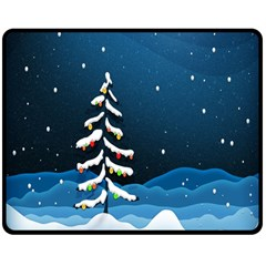 Christmas Xmas Fall Tree Double Sided Fleece Blanket (medium)