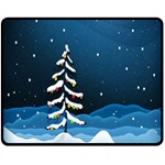 Christmas Xmas Fall Tree Double Sided Fleece Blanket (Medium)  60 x50 Blanket Front