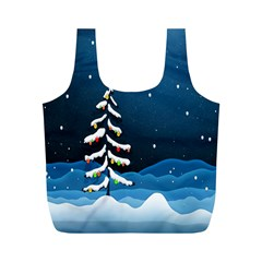 Christmas Xmas Fall Tree Full Print Recycle Bags (M)