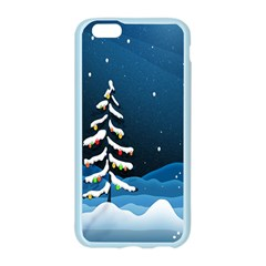 Christmas Xmas Fall Tree Apple Seamless iPhone 6/6S Case (Color)