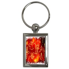 Christmas Widescreen Decoration Key Chains (Rectangle)