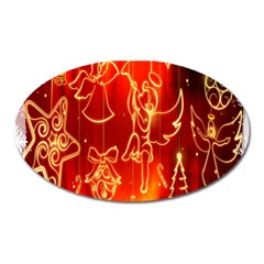 Christmas Widescreen Decoration Oval Magnet