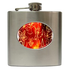 Christmas Widescreen Decoration Hip Flask (6 oz)