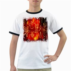 Christmas Widescreen Decoration Ringer T-Shirts