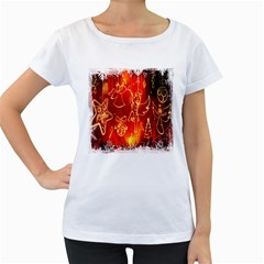 Christmas Widescreen Decoration Women s Loose-Fit T-Shirt (White)