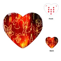 Christmas Widescreen Decoration Playing Cards (Heart)