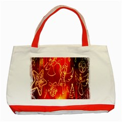Christmas Widescreen Decoration Classic Tote Bag (red)