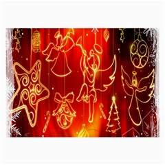 Christmas Widescreen Decoration Large Glasses Cloth