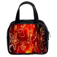 Christmas Widescreen Decoration Classic Handbags (2 Sides)