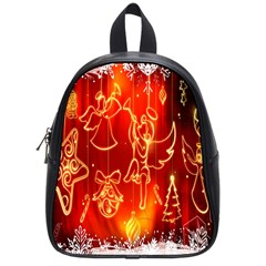 Christmas Widescreen Decoration School Bags (Small)