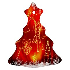 Christmas Widescreen Decoration Christmas Tree Ornament (Two Sides)
