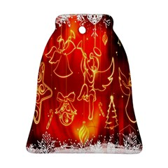Christmas Widescreen Decoration Bell Ornament (two Sides)