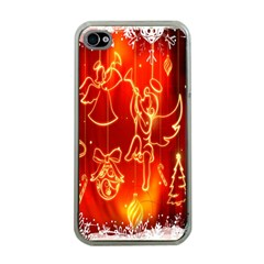 Christmas Widescreen Decoration Apple iPhone 4 Case (Clear)