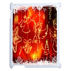 Christmas Widescreen Decoration Apple iPad 2 Case (White)