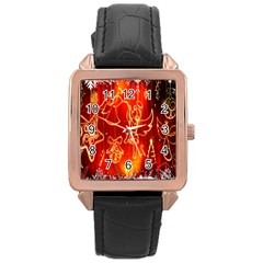 Christmas Widescreen Decoration Rose Gold Leather Watch