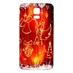 Christmas Widescreen Decoration Samsung Galaxy S5 Back Case (white)