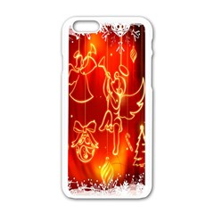 Christmas Widescreen Decoration Apple iPhone 6/6S White Enamel Case
