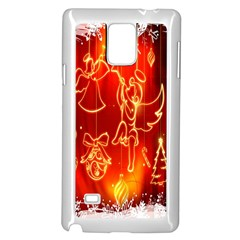 Christmas Widescreen Decoration Samsung Galaxy Note 4 Case (white)