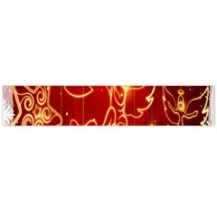 Christmas Widescreen Decoration Flano Scarf (Large)