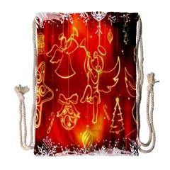 Christmas Widescreen Decoration Drawstring Bag (large)
