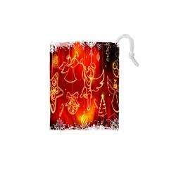 Christmas Widescreen Decoration Drawstring Pouches (XS)