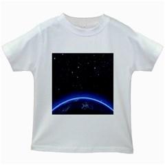 Christmas Xmas Night Pattern Kids White T-Shirts