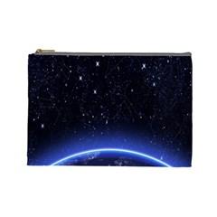 Christmas Xmas Night Pattern Cosmetic Bag (Large)