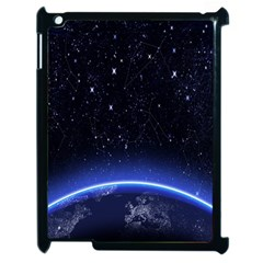 Christmas Xmas Night Pattern Apple iPad 2 Case (Black)