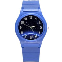 Christmas Xmas Night Pattern Round Plastic Sport Watch (S)