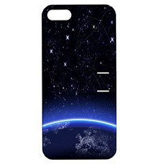 Christmas Xmas Night Pattern Apple iPhone 5 Hardshell Case with Stand