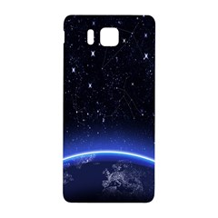 Christmas Xmas Night Pattern Samsung Galaxy Alpha Hardshell Back Case