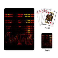 Christmas Advent Gloss Sparkle Playing Card
