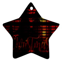 Christmas Advent Gloss Sparkle Star Ornament (Two Sides)