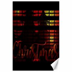 Christmas Advent Gloss Sparkle Canvas 24  x 36