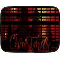 Christmas Advent Gloss Sparkle Double Sided Fleece Blanket (Mini)