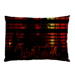 Christmas Advent Gloss Sparkle Pillow Case (Two Sides)