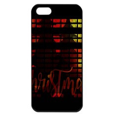 Christmas Advent Gloss Sparkle Apple Iphone 5 Seamless Case (black)