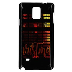Christmas Advent Gloss Sparkle Samsung Galaxy Note 4 Case (black)