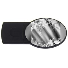 Christmas Background  Usb Flash Drive Oval (4 Gb)