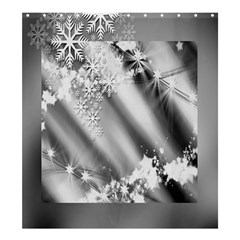 Christmas Background  Shower Curtain 66  x 72  (Large)