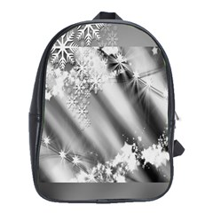 Christmas Background  School Bags(Large)