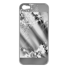 Christmas Background  Apple iPhone 5 Case (Silver)
