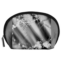 Christmas Background  Accessory Pouches (Large)