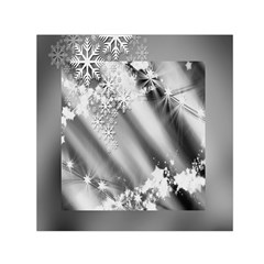 Christmas Background  Small Satin Scarf (square)