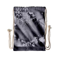 Christmas Background  Drawstring Bag (Small)