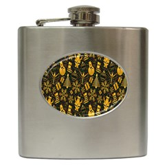 Christmas Background Hip Flask (6 Oz)